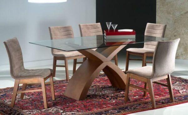 Mesa com SEIS CADEIRAS para sala de jantar