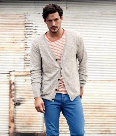 CARDIGAN Masculino ; Jeitos de usar, com calça ou bermuda