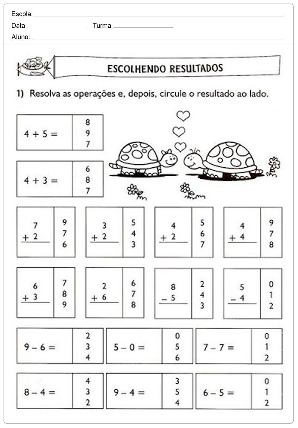 Excepcional Atividades de Matemática para 1 ANO somando números | Jet Dicas WU26