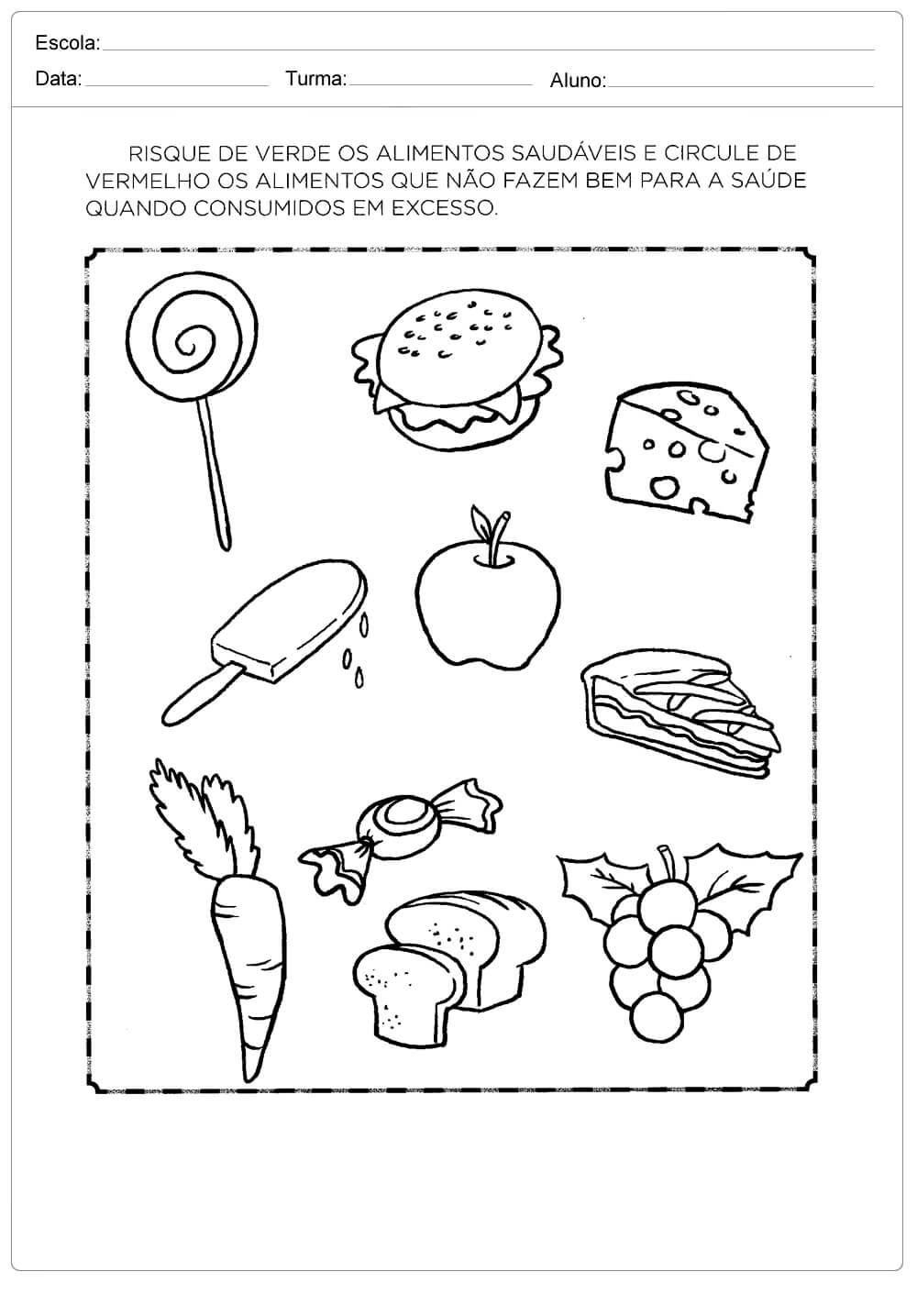 Atividades Sobre Alimentacao Saudavel Para Ensino Fundamental