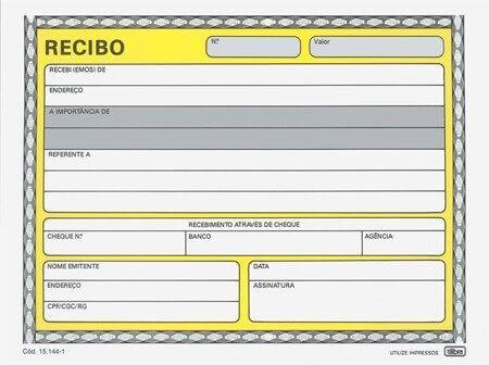 Modelo de RECIBO DE ALUGUEL para imprimir ( 15 opções )