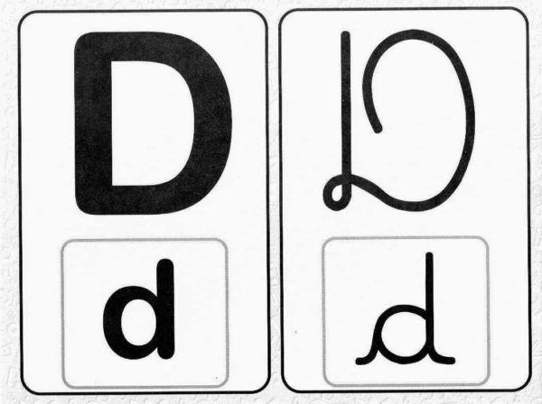 Moldes de Letras Maiúsculas e Minusculas do alfabeto