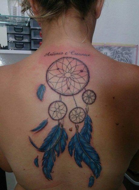 Tatuagem Filtro Dos Sonhos Feminina Nas Costas Braço Perna