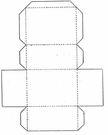Molde de caixinha de papel, Eva para lembrancinha e presente