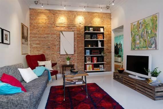 Decoração com Tijolo Rústico / Aparente Na sala, Quartos, Cozinha, área externa
