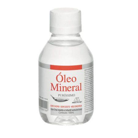 Óleo Mineral tanto para pele quanto Intestino